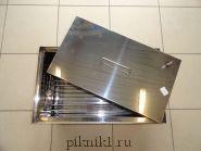 """Коптильня """"Профи"""" с гидрозамком 50*35*30 см из нержавеющей стали AISI430 2,0 мм"""