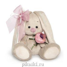 Зайка Ми с винтажной розой 15 см